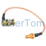 BNC to SMA Female Pigtail Extension Cable